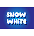 snow white text 3d blue white concept design logo vector image vector image
