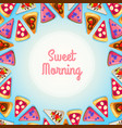 tasty breakfast background vector image
