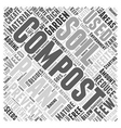 the benefits composting word cloud concept vector image vector image