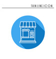 thin line icons set cashbox ticket window food vector image vector image