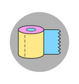 toilet paper roll flat body hygiene icon vector image vector image