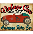 vintage race car for printing old school vector image