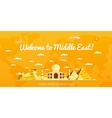Welcome to Middle East poster with attractions vector image vector image