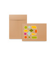 white beige and brown paper envelopes realistic