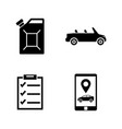 car service simple related icons vector image