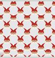Santa seamless pattern vector image