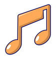 music note icon cartoon style vector image