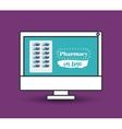 pharmacy online design vector image