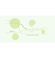 abstract lines and circles vector image vector image