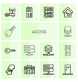 access icons vector image vector image