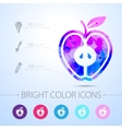 apple icon with infographic elements vector image vector image