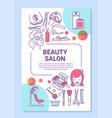 beauty salon procedures poster template layout