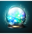 bright glowing crystal ball for fortune vector image