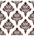 Brown damask seamless pattern background vector image vector image