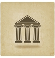 building with columns old background vector image