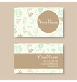 business card with green background vector image vector image