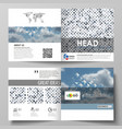 business templates for bi fold square brochure vector image vector image