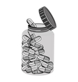 capsules medical care icon vector image vector image