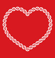 Celtic knot pattern red heart shape - love concept vector image vector image