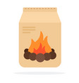 charcoal in packing flat isolated vector image