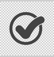 check mark button icon flat vector image vector image