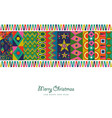 christmas and new year abstract color decoration vector image vector image