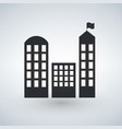 city buildings icon real estate symbol modern vector image