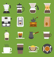 coffee method vector image
