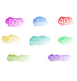 colored sticker set vector image vector image