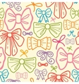 Colorful bows seamless pattern background vector image vector image