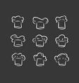 cook hat logo menu restaurant icon set vector image vector image