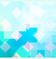 cyan mosaic abstract background with ice pattern vector image vector image