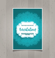 Decorative invitation background vector image vector image