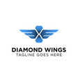 diamond wings logo design inspiration vector image