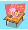 Donuts time concept vector image vector image
