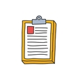 doodle icon medical history vector image