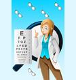 eye doctor vector image