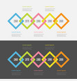 five step timeline infographic set colorful big vector image vector image