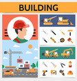 flat building industry concept vector image vector image
