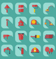 flat concept set modern design with shadow vector image vector image