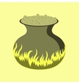 flat on background of potion cauldron vector image vector image