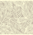 floral seamless pattern tropical leaves fashion vector image