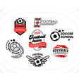 football banners icons or badges set soccer vector image