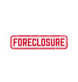 foreclosure sign grunge stamp vector image