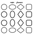 framework collection black rope vector image vector image