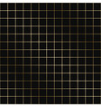 geometric grid pattern - seamless luxury vector image vector image