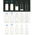 glass milk bottle vector image vector image