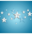 Grey stars on blue background vector image vector image