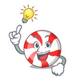 have an idea peppermint candy mascot cartoon vector image
