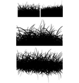 horizontal black hair fur grass lines over white vector image vector image